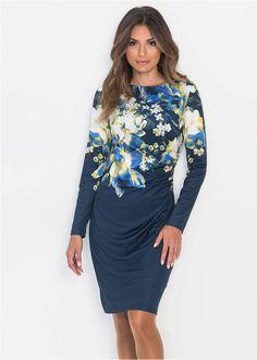 Granatowa sukienka w kwiaty Special Occasion, Elegant, Blouse, Womens Fashion, Long Sleeve, Style, Casual Dresses, Autumn, Flowers