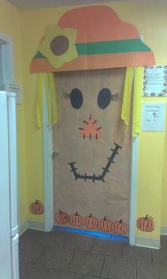 my co worker did this for our halloween door decorating contest at work