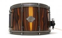 14x8 Spotted Gum Snare Drum - Bolivian Rosewood Veneer - Smooth Satin