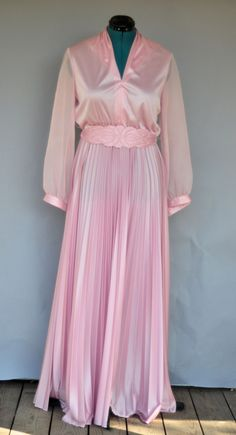 VINTAGE 1980 GRECIAN MOTHER OF THE BRIDE DRESS