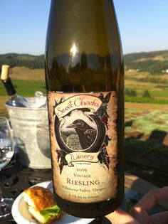 Sweet Cheeks Winery, near Eugene Oregon. This is the best Riesling! Love it!