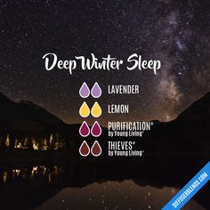 Deep Winter Sleep — Essential Oil Diffuser Blend #aromatherapysleepdiffuser