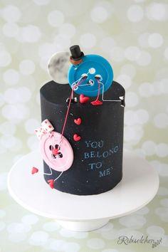Buttons in love! Button cake for valentines day - Verliebte Knöpfe! Valentinstags-Torte