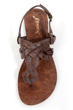 GoMax Berdine 80 Brown Loopy Thong Sandals - $32.00....super cute!
