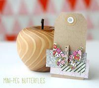 Mini-peg butterflies - gingerandgeorge