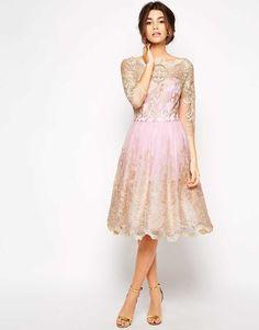 chi chi Sukienka koronkowa prześliczna beżowa - SUKIENKI MOHHO.Collections