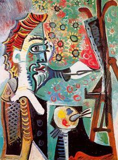 """""""画家3"""", オイル バイ Pablo Picasso (1881-1973, France)"""