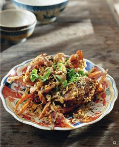Recipes from Thai Street Food by David Thompson - deep-fried soft-shell crabswith garlic and black pepper and chillie this ia must have at my wedding