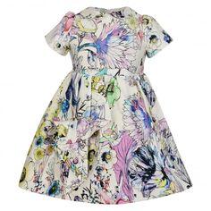 Roberto Cavalli Kids Baby Girls Floral Print Dress - Roberto Cavalli Kids from Chocolate Clothing UK