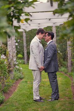 Christopher and Tim took their photos on Stewart's estate. #gay #LGBT #wedding