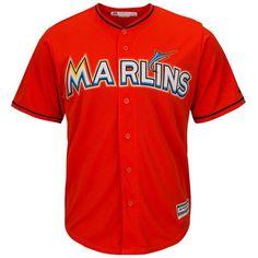 Miami Marlins Cool Base MLB Custom Orange Jersey