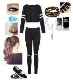 """""""Untitled #19"""" by krystal-dallas ❤ liked on Polyvore featuring Miss Selfridge, Vans, Eos and Bling Jewelry"""