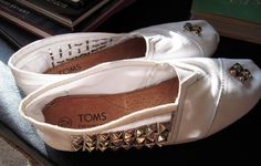 White. Studded. Toms. NEED!