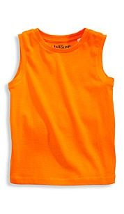Palomino Mouwloos shirt oranje. Jongens suntop zonder mouwen in singlejersey-kwaliteit. #oranje #wkvoetbal #wkbrazilie2014 #wkoranje #oranjeproducten
