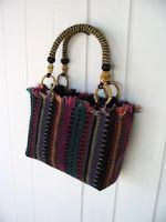 cool way to reuse a woven placemat, or other interesting piece of fabric.