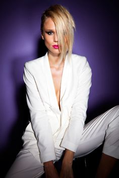 Stylish White Suit www.loveitsomuch.com