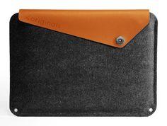 """Mujjo 13"""" Macbook Air Sleeve Brown. $69.00, via Etsy."""
