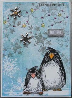 Sophie's Art: Zwei Pinguine  -  Two penguins