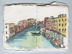 Carnet de voyage, Venise, Italie  © Antonia Neyrins
