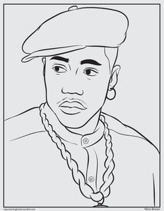 I Was Trying To Think Of Something Fun Put Up Here On The Tumblr For Christmas Best Thing Could A New Jack City Nino Brown Coloring