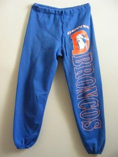 Vintage 1970s 80s Blue Denver Broncos Sweatpants Drawstring Ladies M L Mens S | eBay