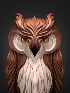Owl from Maxim Shkret's Predators Series