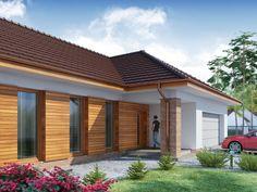 DOM.PL™ - Projekt domu DA Sonia 2 PS CE - DOM DS3-17 - gotowy koszt budowy House Plans, Garage Doors, Layout, Exterior, House Design, Architecture, Outdoor Decor, Home Decor, Tejidos