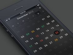 CalendarApp  -- nice and elegant black,   really suits the black texture
