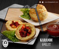Make your Sundays amazing with Karandi Omlet at THALAPPAKATTI RESTAURANT  www.thalappakatti.com | 044-26194300 / 26194200  #Food #foodie #Thalappakatti #Chicken #Fish #Egg #Mutton #Restaurant