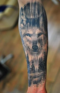 Amazing Forearm Wolf Tattoos For Men #tattoosformensleeve