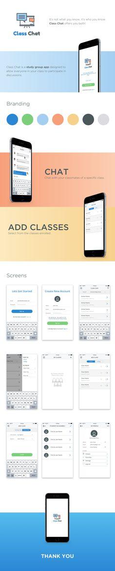 Class Chat App | iOS App Design