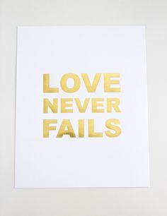 Love Never Fails print $15