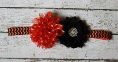 Halloween baby headband black and orange by AshlynsAccessoryCo