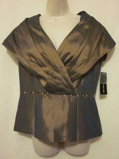 NWT Victor Costa Metallic Copper Dressy Top Blouse Size 8 #VictorCosta #Dressy…