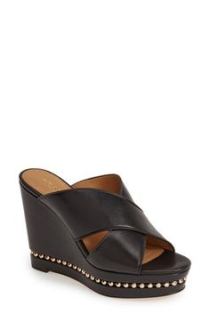 8939ef5379b12 COACH  Emily  Leather Wedge Sandal (Women) available at  Nordstrom Leather  Wedge