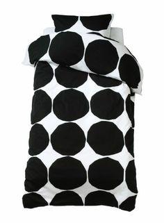 Kivet duvet cover (white,black) |Décor, Bedroom, Sheets & Duvets | Marimekko