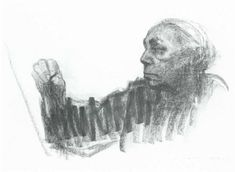Kathe Kollwitz, Self Portrait 1924 This drawing made a huge impression on me as an art student and helped me recognize how much emotional impact a simple mark can have.