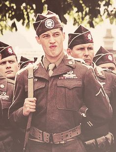 another gif of Tom as John Janovec in Band of Brothers