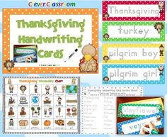 Thanksgiving Handwriting Cards Center Activity PDF file16 pages plus a set in gray style.This writing center activity is full of Thanksgiving vocabulary all in Zaner Bloser font.***** We have just listed our Christmas Handwriting Cards: Christmas Handwriting Cards Center Activity Polka Dot Theme 43 pagesSimply print and laminate your cards for children to practice their handwriting skills with a dry erase marker.Students will be given open-ended opportunities to revise their handwriting…