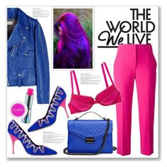 """""""Electric World"""" by queenvirgo on Polyvore featuring Golden Goose, Manolo Blahnik, Alexander McQueen, Aerie and MAC Cosmetics"""