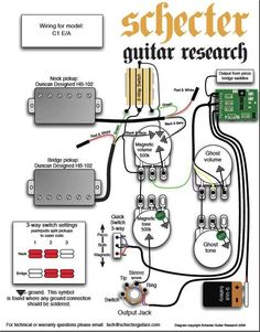30 Best Musical Instruments - Electric Guitar Parts images in 2013  Band Eq Wiring Diagram Schecter B on