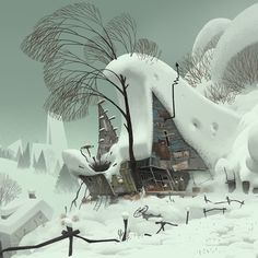 Sergio Pablos Animation Studios - Animation and multimedia. Winter Illustration, Landscape Illustration, Illustration Art, Environment Concept, Environment Design, Animation Background, Art Background, Landscape Concept, Landscape Art