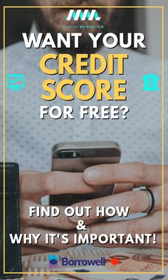 Knowing your credit score and monitoring your report will be a key tool as you navigate your financial journey. Learn why it's important and how you can check it for free with Borrowell! Free Credit Score, Improve Your Credit Score, Dave Ramsey, Budgeting Finances, Budgeting Tips, Money Tips, Money Saving Tips, Savings Planner, Canada