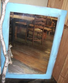 reclaimed barn wood mirror, available stained or painted, any size - www.braunfarmtables.com, with showroom in Intercourse, PA  - reclaimed barn wood furniture handmade in Lancaster County, PA