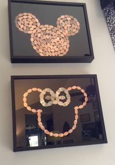 Disney World, press pennies Mickey Mouse, Minnie Mouse. Epcot, Animal Kingdom, Hollywood Studios