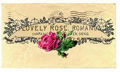 Friday freebie - rose scroll