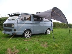 vw t25 custom grey blue