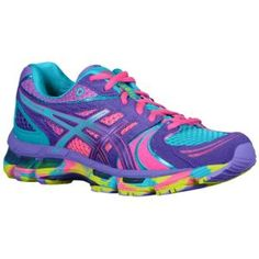 just got these :) ASICS® Gel - Kayano 18 - Women's - Running - Shoes - Electric Purple/Turquoise/Lime