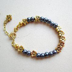 Child's Blue Pearl Bracelet Flower Girl by prettylittlepretties, $12.00