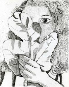 Художник - Люсьен Фрейд, картина «Девушка с фиговым листком»